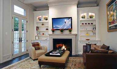 Photo Gallery TV On Wall Over Above Fireplace Mounting Installation Tennessee