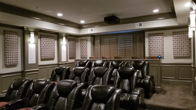 Home Theater Seating Decor and Acoustic Treatments Brentwood Franklin,TN