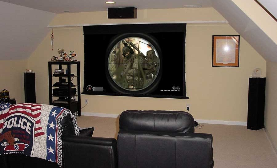 Home Theater with Electric Screen - Murfreesboro, TN