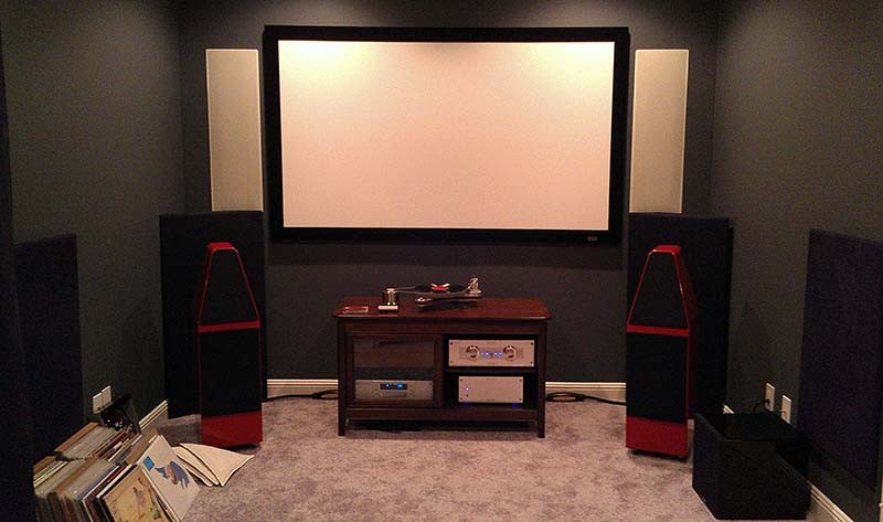 Home Theater with Acoustically Transparent Screen and In Wall Speakers - Mt. Juliet, TN